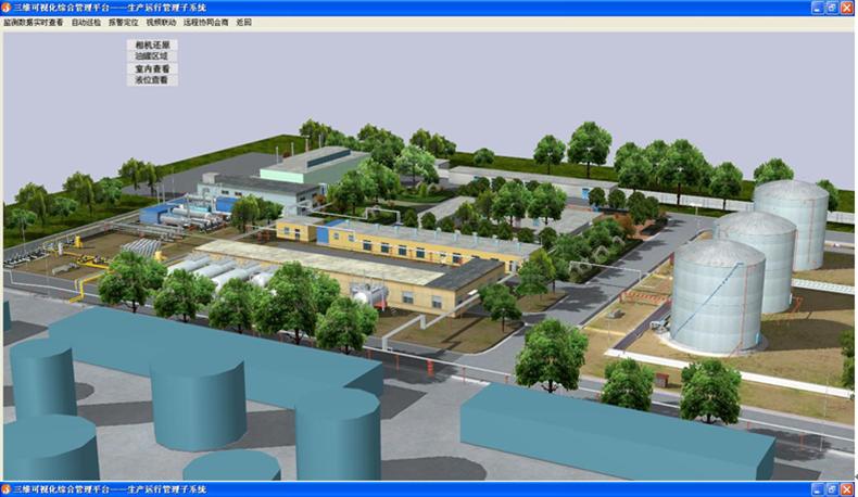 某油田联合站三维可视化管理平台